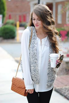 Love this textured vest.