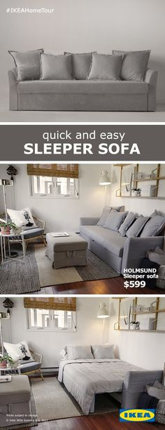 No guest room? No problem. The HOLMSUND Sleeper Sofa is a great way to give guests a place to stay while saving some storage space for you.