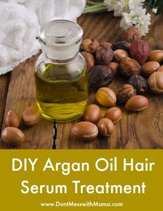DIY Argan Oil Hair Serum Treatment - I love this argan hair serum to keep my hair shiny and healthy - DontMesswithMama.com