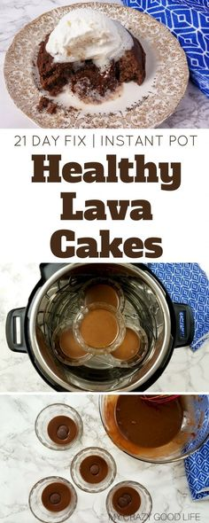 I get it–Instant Pot lava cake has been done before. There's no need to recreate it unless I have something to add to it–I do! I've cleaned the recipe up and this is as close to a Healthy Lava Cake as you can get. 21 Day Fix friendly | Instant Pot Dessert (healthy chocolate desserts 21 day fix)