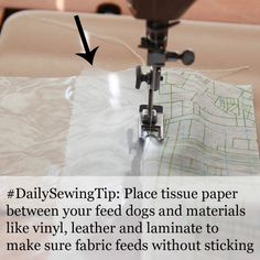 How to sew materials like vinyl, leather and oilcloth. #sewing #sewingtip