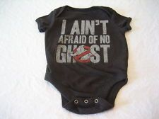 Baby Boys Ghostbusters Black Short Sleeve One-Piece Size 3-6 Months