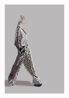 Ruby Browning illustration of Basso & Brooke AW12