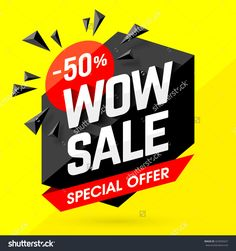 Wow Sale Special Offer Banner. Sale Poster. Big Sale, Special Offer, Discounts…