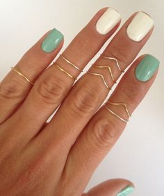 pretty gold and silver stacking rings