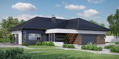 Projekt domu HomeKONCEPT-26 – wariant 3 | HomeKONCEPT House Plans Mansion, My House Plans, Villa Design, Modern House Design, Passive House, Good House, Home Design Plans, House Front, Home Projects
