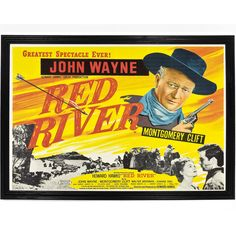 Red River is a 1948 Western film directed and produced by Howard Hawks and starring John Wayne and Montgomery Clift, giving a fictional account of the first cattle drive from Texas to Kansas along the