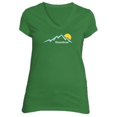Steamboat, Colorado Mountain Sunset - Women's V-Neck T-Shirt