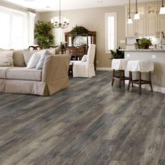 Luxury vinyl plank flooring to fit any room in your home. Our easy to install luxury vinyl floors come in tile, plank and vinyl sheet flooring in every style. Vinyl Wood Flooring, Grey Wood Floors, Luxury Vinyl Flooring, Wood Vinyl, Basement Flooring, Luxury Vinyl Plank, Grey Flooring, Flooring Ideas, Vinal Plank Flooring