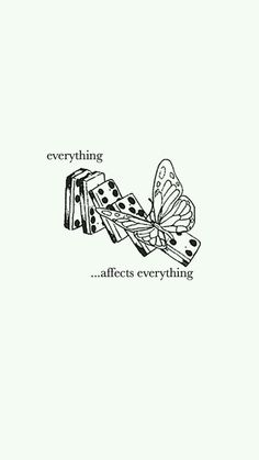 I feel like this is somehow related to Thirteen Reasons Why. (butterfly effect)