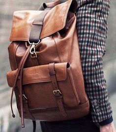 #leather #backpack Mens