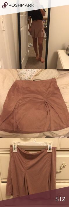 Brandy Melville skater skirt Dusty rose-pink skater skirt from brandy Melville. Size small. Brandy Melville Skirts Mini