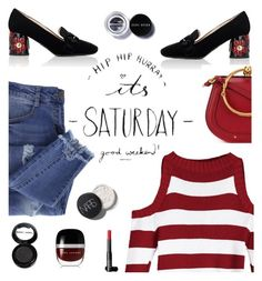 """""""Hip Hip Hooray!  It's Saturday!"""" by juliehooper ❤ liked on Polyvore featuring Essie, Prada, Chloé, NARS Cosmetics, Manic Panic NYC, Marc Jacobs and Bobbi Brown Cosmetics"""