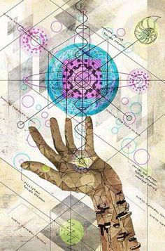 Cada ser humano tiene, dentro de sí, algo mucho más importante que él mismo: su don.  ~ Paulo Coelho    Namasté ~ KardiaMou®     Sacred Geometry ♡♡♡