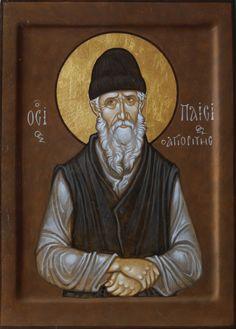 St Paisius by Maxim Sheshukov Byzantine Icons, Art Icon, Orthodox Icons, Sacred Art, My Works, Christianity, Saints, Painting, Inspiration