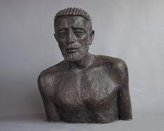 Olbram Zoubek Busta Josef bronz / bronze 63 cm, 1978 Architectural Sculpture, Art Gallery, Bronze, Statue, Design, Art Museum, Sculptures, Sculpture