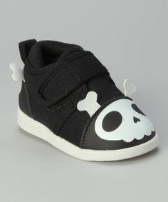 Look what I found on #zulily! Yochi Yochi Black Captain Zuga Skull Squeaker Shoe by Yochi Yochi #zulilyfinds