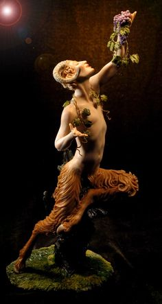 Faun by Forest Rogers. The faun is a rustic forest god or goddess  of Roman mythology often associated with enchanted woods and the Greek god Pan and his satyrs.