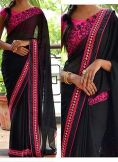 Hot Deals - Bollywood Replica - Party Wear Black Saree - - Products Details :Style : Bollywood Replica Wedding Wear / Party Wear SareeSaree Size : Free SizeLength Of Saree : Spec Fancy Sarees, Party Wear Sarees, Indian Dresses, Indian Outfits, Indian Clothes, Bollywood Sarees Online, Indian Bollywood, Bollywood Style, Bollywood Fashion