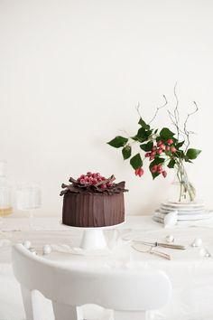 Salted Caramel Cream, Chocolate and Almond Cake