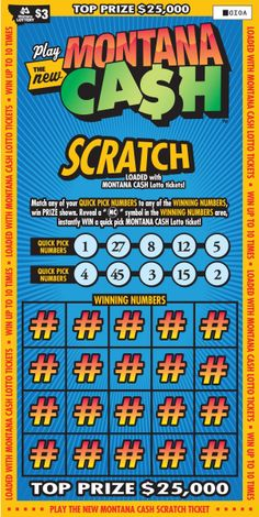 Try our NEW Montana Cash Scratch ticket!