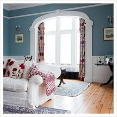GAP Interiors - Country living room - Picture library specialising in Interiors, Lifestyle & Homes  love all  the trim!!!