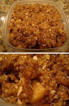 Raw Vegan Apple Crumble (I made this and it was easy and sooo good! Perfect with some vegan ice-cream!)