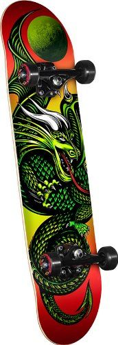 Looking for a great gift for a teen guy? Powell Golden Dragon Knight Dragon 2 Complete Skateboard |  Check out our board for the Top 10 gifts for the 2014 holiday season!