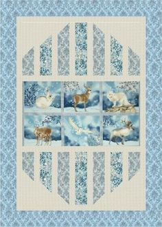 """""""Reflections"""" quilt designed by Mountainpeek Creations. Features Winter White and Quilter's Linen Metallic. Frost colorstory."""