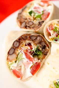 Spicy Bean Burritos - did you know that spicy food is suppose to help speed up your metabolism?