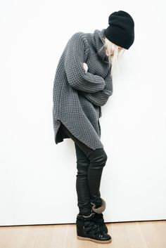 figtny.com | outfit • 23 Hope Grand Sweater / Isabel Marant Nowles boots / topshop jeans