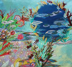 "Saatchi Art Artist: Lia Porto; Acrylic 2013 Painting ""Tanque Pluton (Pluto tank)"""