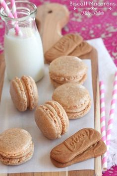 Are you kidding me right now? Don't joke me.... this is exactly what I have been wanting to make and now I don't have to try and put a makeshift recipe together. Biscoff Macarons with Biscoff buttercream! by Picky Palate