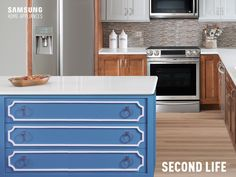 Old dresser no longer a good fit for your bedroom? Dress up your kitchen with this fun and functional makeover. http://smsn.us/KitchenIsland