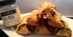 YIAH Pizza Puffs - Left over veggies and pepperoni