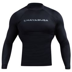 The Hayabusa Haburi Longsleeve Rashguard is designed to fit and feel like a second skin, providing all of the benefits of performance compression wear. The longsleeve design is perfect for cooler workouts or for athletes who prefer full arm coverage for their sport. Optimized compression maximizes athletic performance Fully breathable with thermoregulating and wicking properties Professional athletic pattern for unmatched fit and comfort Highest quality stitching and craftsmanship