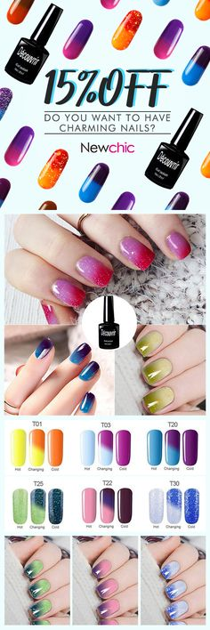 Do you want to have charming nails? Grab coupons on Newchic and enjoy extra 15% OFF Discount