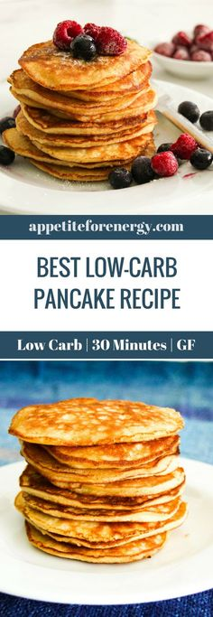 This Low-Carb Pancake Recipe is just what you need to start your day with a healthy low-carb breakfast. Simple to make with only 7 ingredients. Keto pancakes | ketogenic diet pancakes | gluten free pancakes | low carb breakfast recipe | keto breakfast pancakes| gluten free breakfast recipe