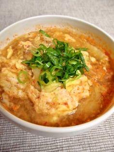 「絶品★キムチde春雨スープ」簡単に心も体も温まる春雨スープは如何?カロリーも少ないので、ダイエットにも最適♪しかも、旨い!簡単!早い!最高の三拍子です(*´∀`)【楽天レシピ】