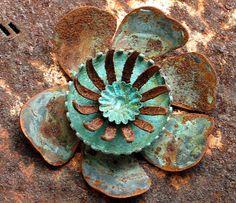 geoxideerd koper bloem