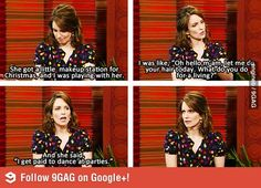 Tina Fey's daughter is as funny as she.
