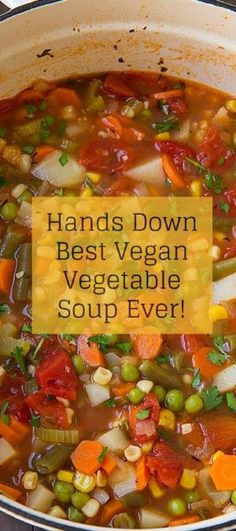 Our Best Vegan Recipes: Vegan Vegetable Soup by janet