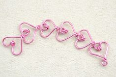 How to make heart wire wraps!
