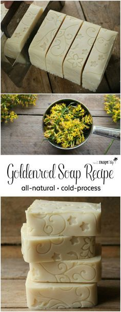 Minimalist Garden Design How to Make Goldenrod Soap with a Floral Fondant Mat Design.Minimalist Garden Design How to Make Goldenrod Soap with a Floral Fondant Mat Design Soap Making Recipes, Homemade Soap Recipes, Homemade Crafts, Diy Crafts, Cleaning Recipes, Diy Cleaning Products, Savon Soap, Soap Making Supplies, Cold Process Soap