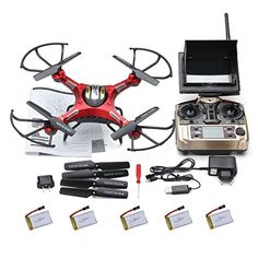 Kingtoys@ Jjrc H8d 4 Channel 2.4ghz Gyro Rc Quadcopter 5.8g Image Transmission Rc Explorers Quad Copter Drone with 2mp Hd Camera FPV Headless Mode 4pcs Free 3.7v 500mah Battery Best Christmas Gifts *** Click image for more details.