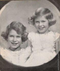 Princesses Elizabeth and Margaret Margaret Rose, Princess Elizabeth, Princesses, Beautiful, Princess
