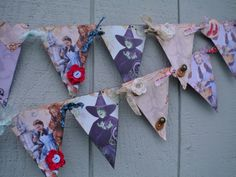 Vintage WIZARD OF OZ Pennant Banner Bunting by BeInspiredBoutique