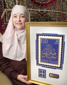 """Aminah Assilmi - Muslim advocate, and did many things, including issuing the """"Eid"""" stamp."""