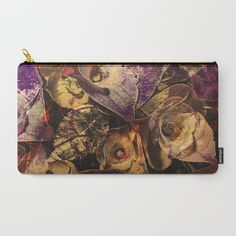 Floral abstract(30). Carry-All Pouch