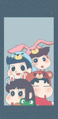 Sinchan Wallpaper, Cartoon Wallpaper, Crayon Shin Chan, Kids Rugs, Wallpapers, Icons, Decor, Movies, Black